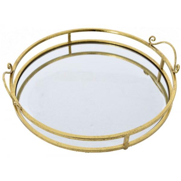 Δίσκοι Σερβιρίσματος - Δίσκος Καθρέφτης Φ 40 cm Χρυσός Δίσκοι σερβιρίσματος Είδη Σπιτιού - saroglouhome.gr